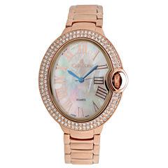 Croton Womens Rose Goldtone Bracelet Watch-Cn207566rgmp