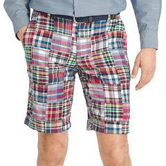 IZOD Madras Flat-Front Shorts