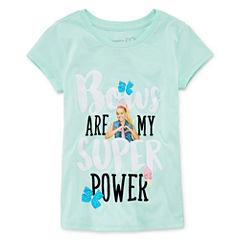 Jojo Short Sleeve Crew Neck T-Shirt-Big Kid Girls