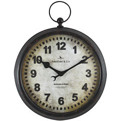 FirsTime® Metal Pocket Watch Wall Clock