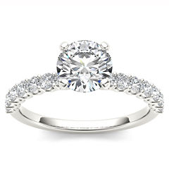 1 CT. T.W. Round White Diamond 14K Gold