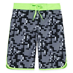 Arizona Boys Camouflage Swim Trunks-Big Kid