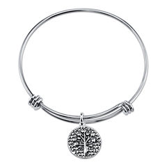 Inspired Moments™ Family Tree Sterling Silver Expandable Bangle