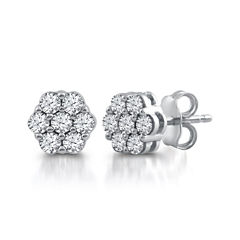 Diamond Blossom 1/2 CT. T.W. Round White Diamond 10K Gold Stud Earrings