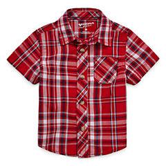 Arizona Short Sleeve Button-Front Shirt Boys