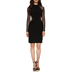 R & M Richards Long Sleeve Sheath Dress