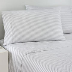IZOD® Gray Ticking Stripe Sheet Set
