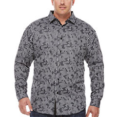 Steve Harvey Long Sleeve Button-Front Shirt-Big and Tall