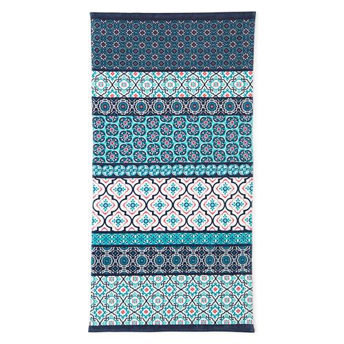 Outdoor Oasis Morrocon Tiles 30x60 Printed Beach Towel