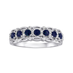 I Said Yes™ 1/6 CT. T.W. Diamond and SapphireRing