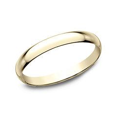 Womens 2mm 18K Yellow Gold Wedding Band