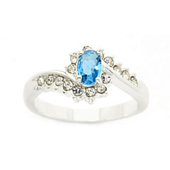 Sparkle Allure Blue Cocktail Ring