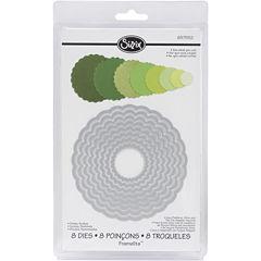 Sizzix® Framelits™ Dies, 8-pc. Scallop Circles Set
