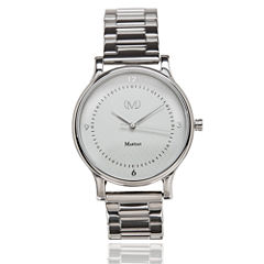 Martian Womens mVip CL 04 Silver Tone Smart Watch-Mps01cl042