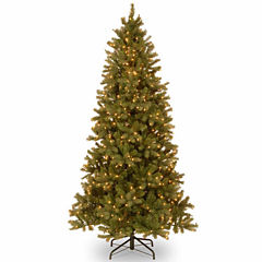 National Tree Co. 7 1/2 Foot Downswept Douglas Fir Slim Hinged Pre-Lit Christmas Tree