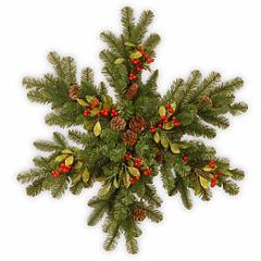 National Tree Co. Berry Leaf Snowflake Holiday Yard Art