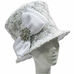 Whittall & Shon Derby Hat Soutache Embroidered Bucket W Brooch