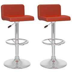 2-Pc. Low Back Adjustable Barstools