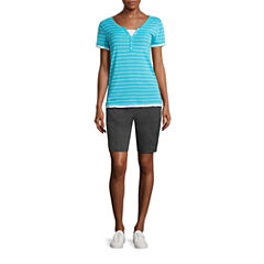 Made for Life™ Short-Sleeve Layered T-Shirt or Woven Bermuda Short