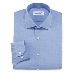Collection By Michael Strahan Long Sleeve Cotton Dress Shirt Big And Tall