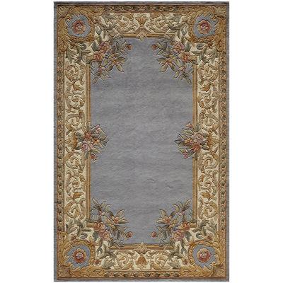 momeni open field handcarved wool rectangular rug - 5x8 Rugs
