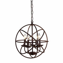 Warehouse Of Tiffany Theo 5-light Rust 17-inch Chandelier