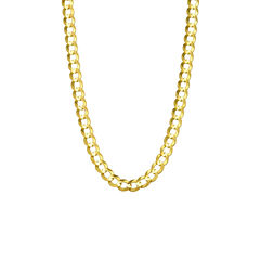 14K Yellow Gold 5.7MM Curb Necklace 28
