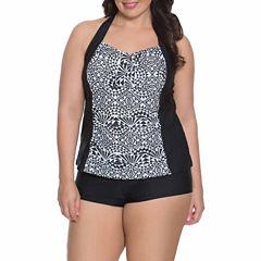 Aqua Couture Tankini Swimsuit Top or Swim Shorts-Plus