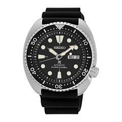 Seiko Dive Mens Black Bracelet Watch-Srp777