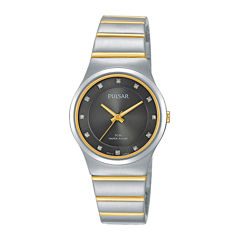 Pulsar® Womens Crystal-Accent Two-Tone Bracelet Watch