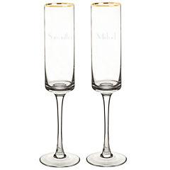 Cathy's Concepts Gold Rim 2-pc. Champagne Flutes