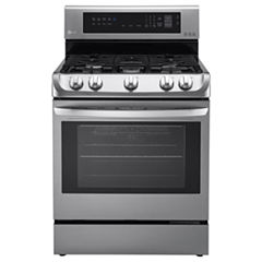 LG 6.3 cu. ft. Capacity Freestanding Oven Gas Range with ProBake Convection™ EasyClean® and UltraHeat Power Burner