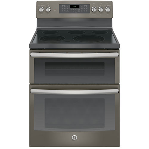 GE® 30 6.6 Cu. Ft. Free-Standing Double Oven Electric Range with Convection