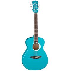 Luna Aurora Borealis Series 3/4 Teal Pearl Acoustic Guitar