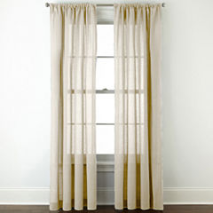 JCPenney HomeTM Cotton Classics Solid Rod Pocket Curtain Panel