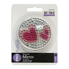 Hot Tools® Rhinestone Compact with Hearts