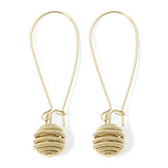 Monet® Swirl Gold-Tone Wire Earrings