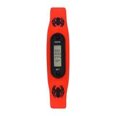Spiderman Boys Pedometer Tracker Multicolor Strap Watch-Spd4428jc