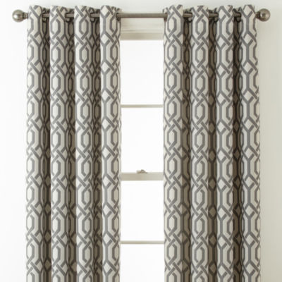 Home Expressions Pasadena Print Blackout Grommet Top Curtain Panel Part 41