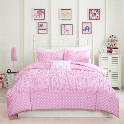 mi zone penelope ruched comforter set - Twin Xl Comforters