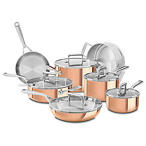 KitchenAid Tri-Ply Copper 12-Piece Set