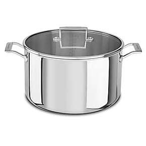 KitchenAid Tri-Ply Stainless Steel 16.0-Quart Stockpot with Lid