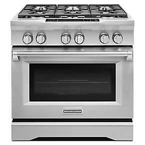 36-Inch 6-Burner Dual Fuel Freestanding Range, Commercial-Style