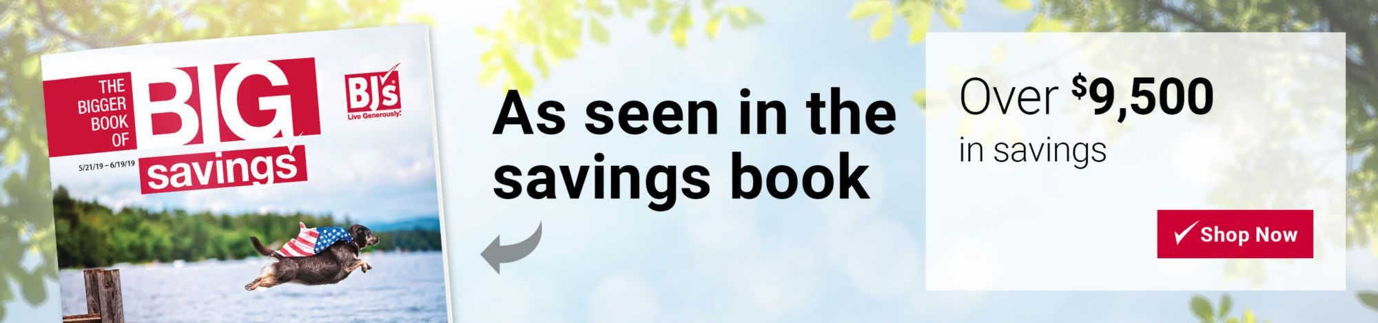 Over $9,500 in savings, as seen in the savings book. Click here to shop now.