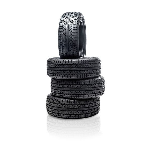 four stacked tires