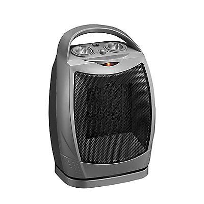 Duraflame 4,600-BTU Oscillating Desktop Heater - Silver/Black