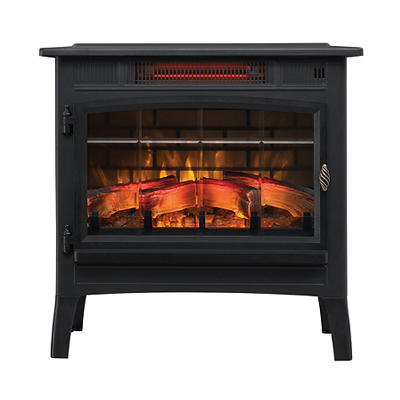 Duraflame Infrared Quartz Stove with 3D Flame Effect - Black