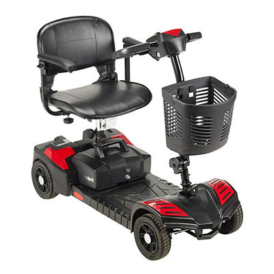 Drive Medical Scout 4-Wheel Compact Travel Power Scooter with Extended