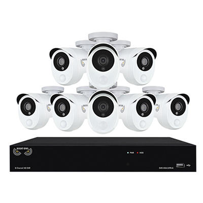 Night Owl 8-Channel 8-Camera 1080p Smart Detection Security System wit