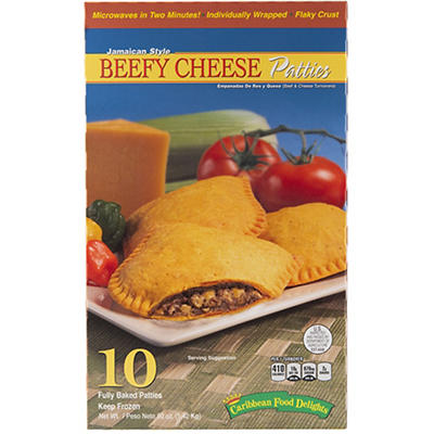 Caribbean Food Delights Jamaican Style Beefy Cheese Patties, 10 ct.